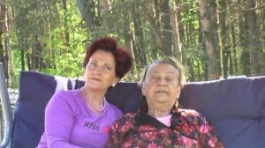 Z Hanią w Józefowie, maj 2007