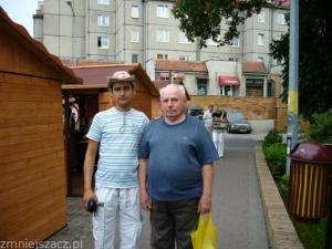 z dziadkiem Michałem /dzis obaj są już w dalekiej podróży/