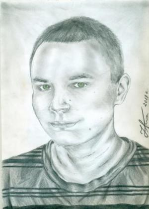 Twój portret,Emi ...ołówkiem
