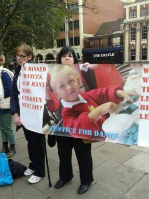 Peaceful Protest at Coventry 10/10/13