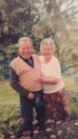Moi kochani rodzice w ogrodzie