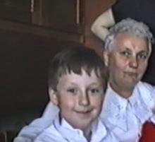 Krzyś z babcią