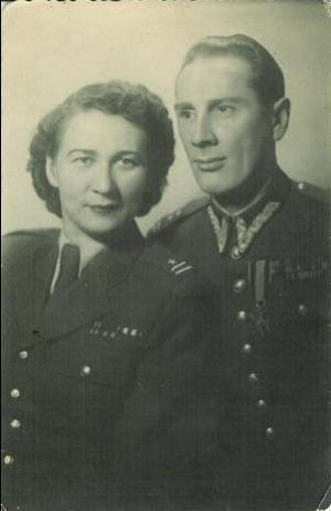 Stanisława i Henryk Adamowiczowie - marzec 1952 r.