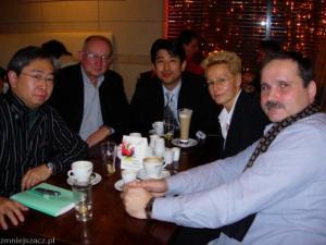 Św. pamieci Jerzy, od lat pracował w Japońskiej Agencji Prasowej Kyodo. Spotkanie robocze w listopadowy weekend w Arkadii 2007r.