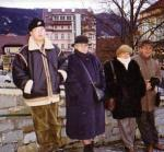 Z wnukiem Sebastianem, bratem Andrzejem i jego żoną Elżbietą w Austrii.